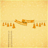 Old Merry Christmas Card Royalty Free Stock Images