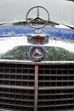 Old Mersedes-Benz car at Retro Fest car close-up Royalty Free Stock Image