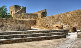 Old Mertola castle in Alentejo Stock Image