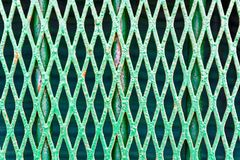 Old Mesh Barrier Stock Photo