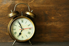Old metal alarm clock Stock Image