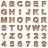 Old metal alphabet on white background Royalty Free Stock Image