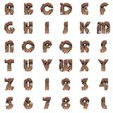 Old metal alphabet on white background royalty free stock images