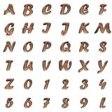 Old metal alphabet on white background Royalty Free Stock Photos