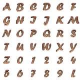 Old metal alphabet on white background royalty free stock photos