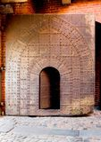 Old metal arch door Royalty Free Stock Image