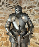 Old metal armor for knights Stock Image