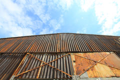 Old metal barn Stock Image