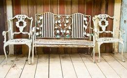 Old metal bench Royalty Free Stock Image