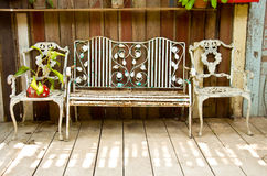 Old metal bench Stock Photography