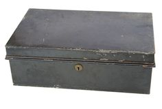Old metal box Stock Photo