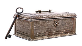 Free Old Metal Box And Key Stock Photos - 44681343
