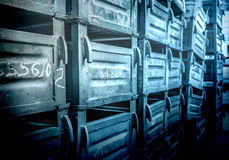 Old metal boxes Royalty Free Stock Images