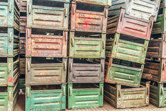 Old metal boxes Royalty Free Stock Image