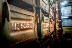 Old metal boxes Stock Photo