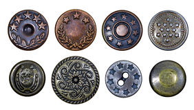 Old metal buttons with stars Stock Photography