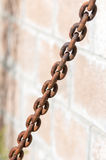Old Metal Chain In Daylight Stock Images