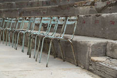 Old Metal Chairs at Ancient Theater of Orange, France Stock Photography