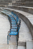 Old Metal Chairs at Ancient Theater of Orange, France Royalty Free Stock Images