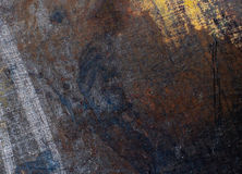 Old metal close-up texture. Texture of old rolled thick sheet of metal Royalty Free Stock Images