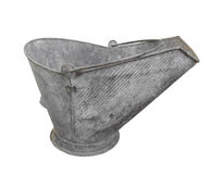 Old metal coal scuttle or bucket isolated. Stock Photography