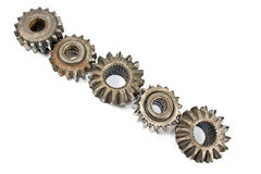 Old metal cogs Royalty Free Stock Images