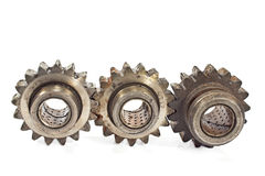 Old metal cogs Royalty Free Stock Photos