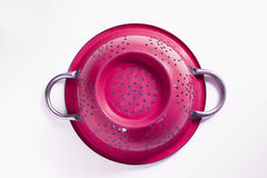 Old metal colander sieve isolated on white background Royalty Free Stock Photo