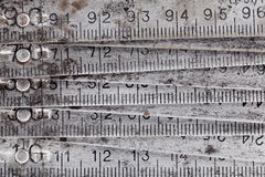 Old metal collapsible meter Royalty Free Stock Photo
