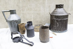 Old metal containers Stock Images