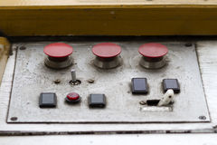 Old Metal Control Panel Royalty Free Stock Images