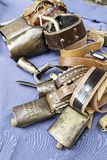 Old metal cowbells Royalty Free Stock Photo