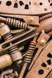 Old metal details of industrial machinery under corrosion Royalty Free Stock Photos