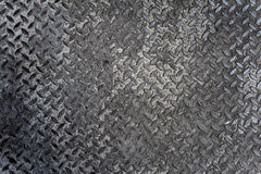 Old metal diamond plate Royalty Free Stock Image