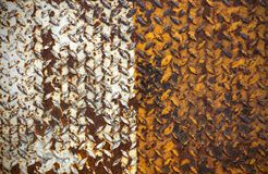 Old metal diamond plate Royalty Free Stock Photography
