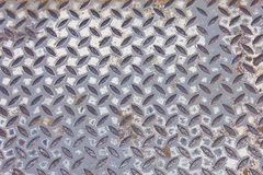 Old metal diamond plate Stock Photos