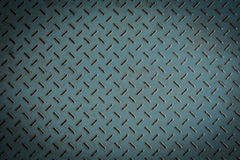 Old metal diamond plate Stock Photography