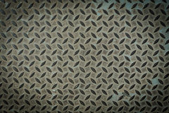 Old metal diamond plate Stock Image
