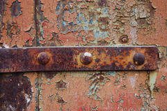 Old metal door Stock Image