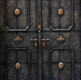 Old metal door detail in Salzburg Stock Images
