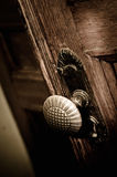 Old metal door handle Royalty Free Stock Photography