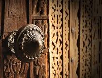 Old metal door-handle Stock Photos