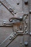 Old metal door-handle Stock Image