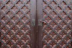 An old metal door handle Royalty Free Stock Photos