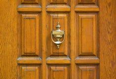 Old metal door handle knocker Royalty Free Stock Images
