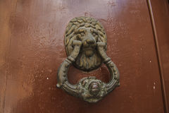 Old metal door knocker Stock Photography