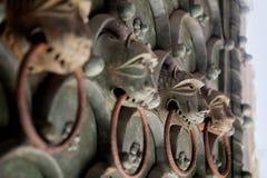 Old metal door knocker Stock Photography