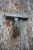 Old metal door with lock Stock Image