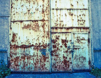 Old metal door Royalty Free Stock Image