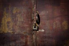 Old metal door with rust Stock Photos